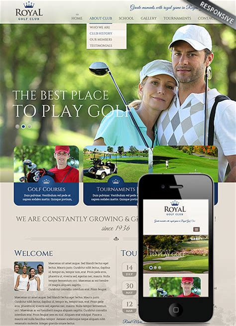 Golf Club Html Website Template Best Website Templates Golf Website Template Free