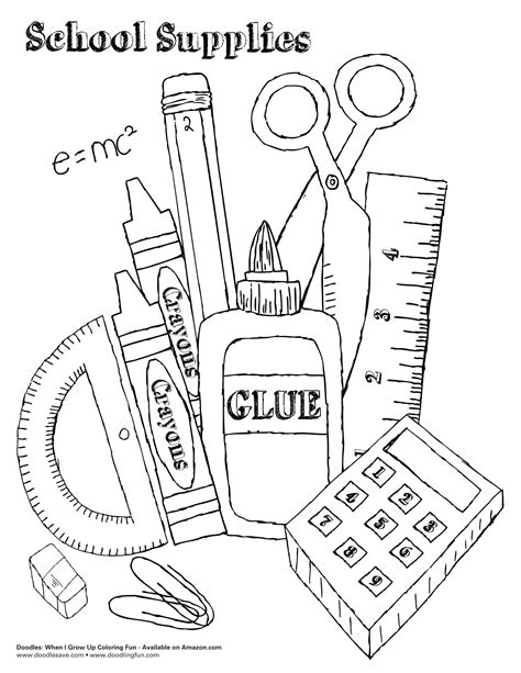 school stationery coloring pages back to school coloring pages getcoloringpages collection