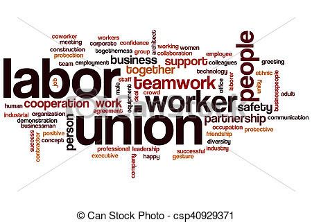 Union Clipart by Labor Union Word Cloud Concept