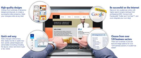 Create A Web Site With 1 1 Mywebsite Website Builder 1and1 Website Builder Templates