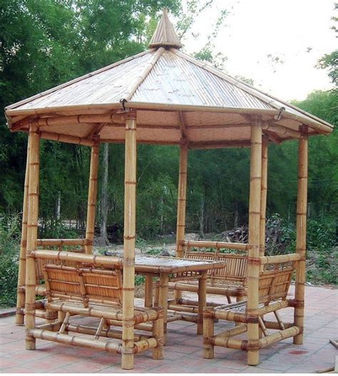 Bamboo Gazebo by Bamboo Gazebo Hut Gardening And Survival Bamboo