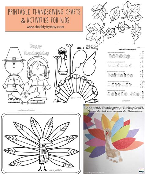 printable thanksgiving craft ideas printable thanksgiving crafts and activities for kids