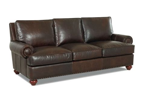 Klaussner Leather Sofas Cherrystone Furniture Klaussner Selma Leather Sofa