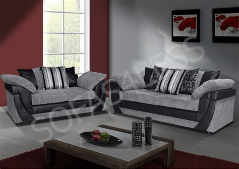 Cheap Two Seater Leather Sofa New Lush 3 2 Seater Sofa Faux Leather Fabric Brown Beige Black Grey So Cheap Ebay