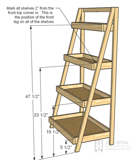 ladder bookshelves plans plans free