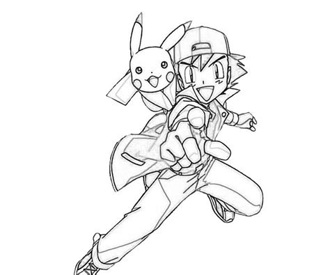 coloring pages pokemon ash ash of pokemon coloring home