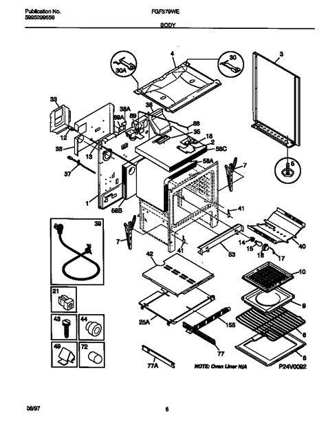 frigidaire stove parts diagram frigidaire fgf379wecf gas range timer stove clocks and
