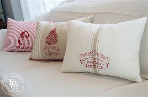 pillows made from dish towels