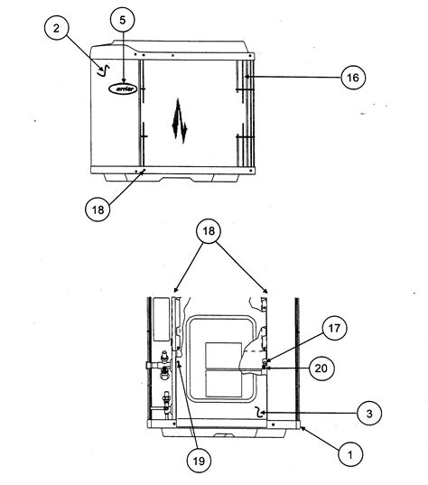 carrier condensing unit parts model tpaseries