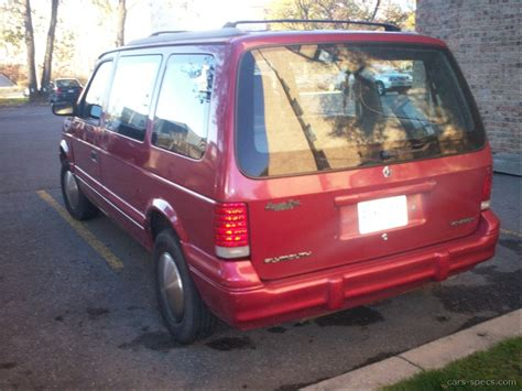 1994 plymouth voyager mpg 1994 plymouth grand voyager minivan specifications