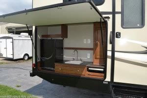 ultra light travel trailers with outdoor kitchens top 5 best travel trailers w outdoor kitchens rvingplanet
