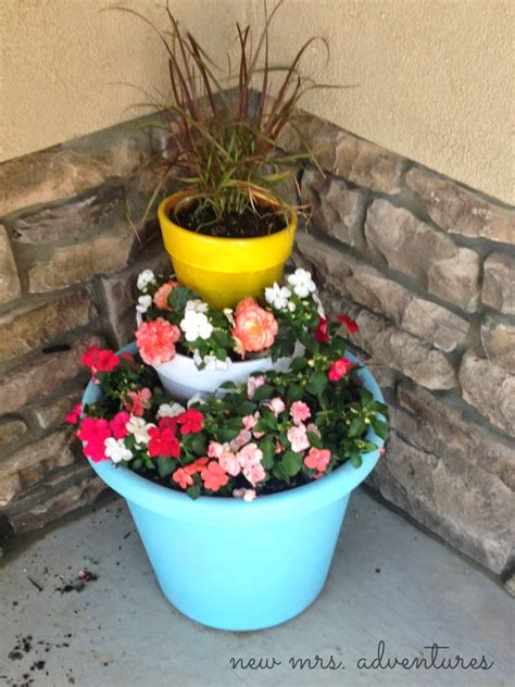Tiered Flower Planters by Barnabas Diy Tiered Flower Pots