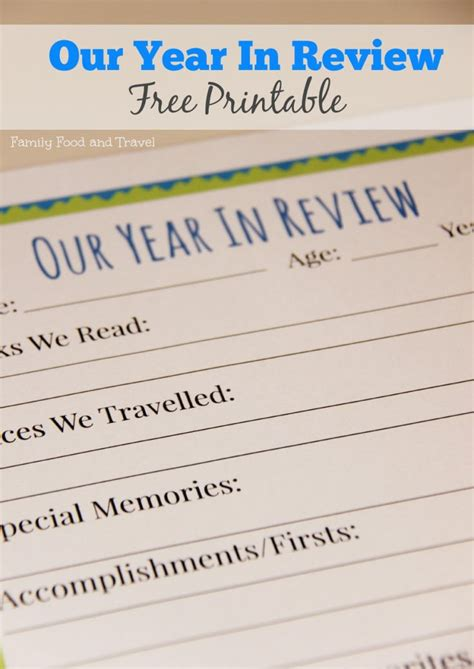 5 new year review printable year in review free printable free printables