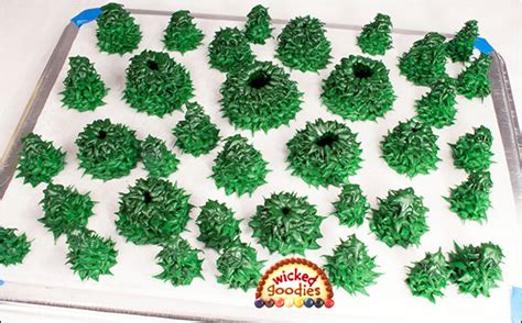 how to make icing trees piped royal icing fir trees