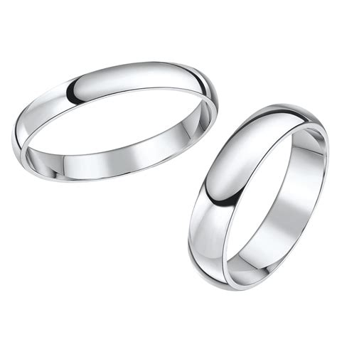 his hers white gold wedding rings matching sets for