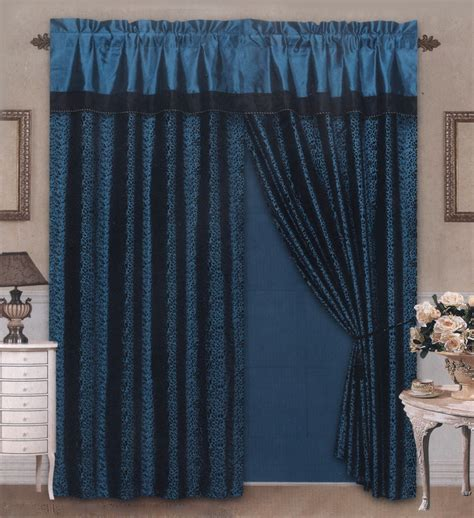 Proteam Nevada Blue Hg 4 4 pieces satin blue black flocking leopard pattern window