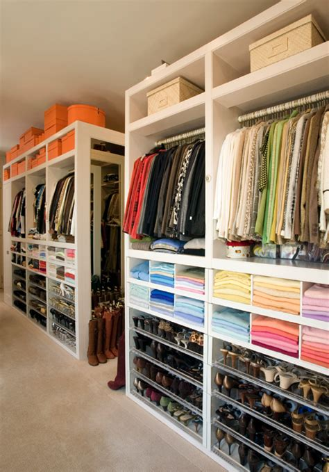 Color Organized Closet by The Zhush Luxury Closets