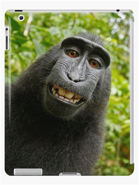 funny monkey face meme ipad case skin  chantal redbubble