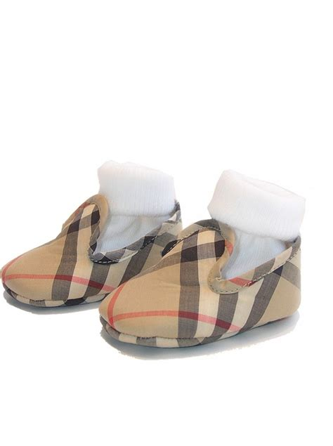 F368 E Burberry Shoes burberry burberry baby beige check pre walker shoes box gift gck iii