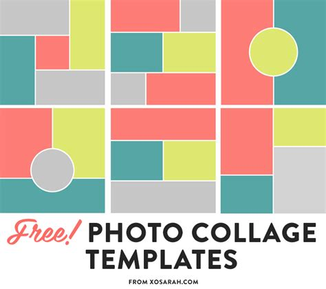 Photoshop Template Collage by Free Photo Collage Templates Xo