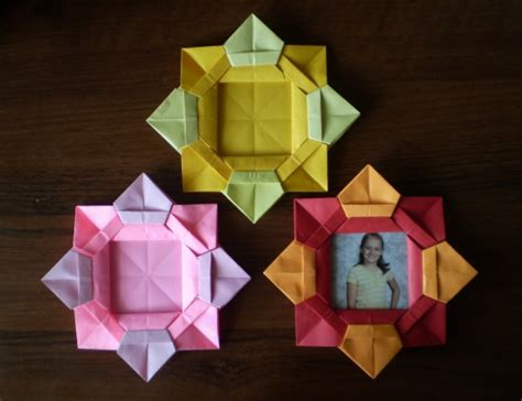 Cool Origami Flowers - cool creativity diy origami flower picture frame