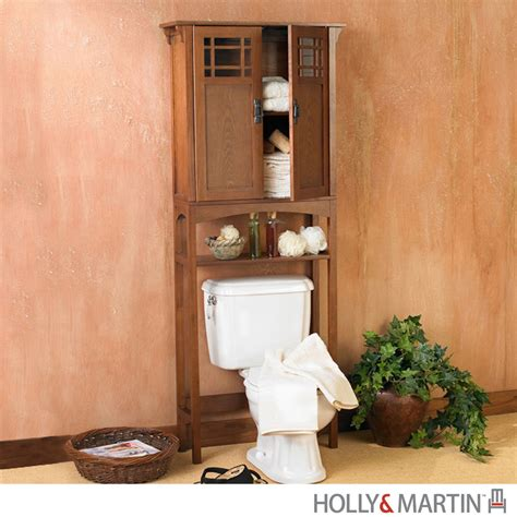 oak bathroom cabinets over toilet connor bath spacesaver mission oak over toilet storage