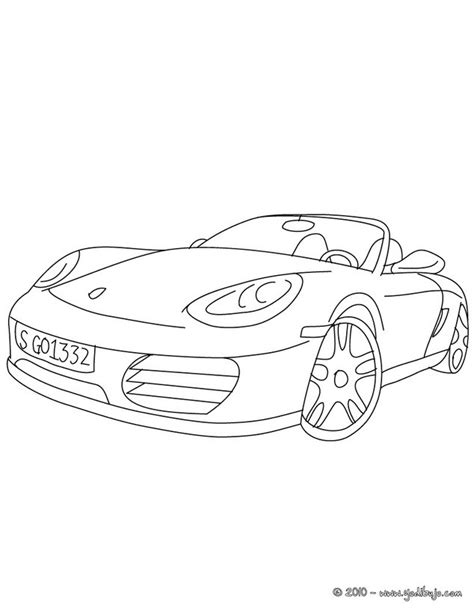 Dibujos para colorear porsche boxter - es.hellokids.com