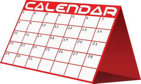 calendar clipart mwea
