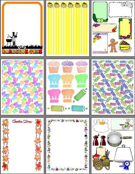 design online scrapbook printable recipe scrapbook designs for food scrapbooking