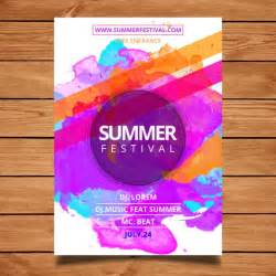 Photoshop Free Poster Templates by Summer Festival Poster Template Vector Free