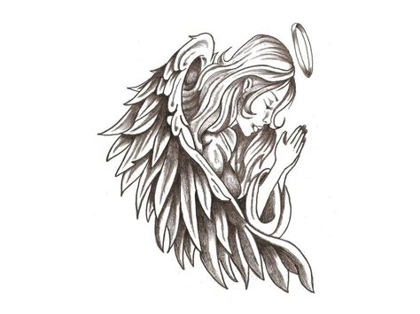 angel praying tattoo designs hd tattoos wallpaper