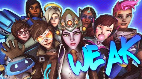 hot female overwatch characters the powerless females of overwatch youtube