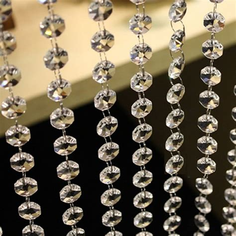 vogue crystal clear bead garland chandelier hanging