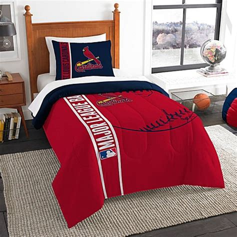 bed bath and beyond st louis mlb st louis cardinals embroidered comforter set bed