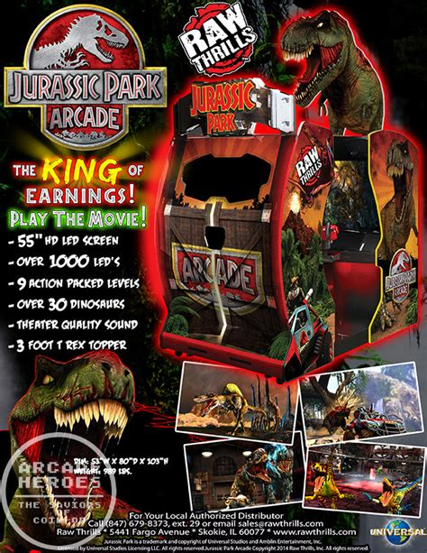 The Lost World Jurassic Park by Arcade Heroes New Jurassic Park Arcade Flyer Amp Release