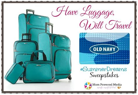 Old Navy Sweepstakes 2014 - enter to win a 5 piece luggage set and 150 old navy gift card simplistically living