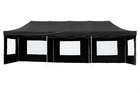 pavillon 2x4 falt pavillon 3x9m schwarz faltpavillon seitenteile