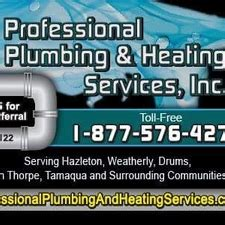 Professional Plumbing Service by Professional Plumbing Heating Services Inc Drums Pa
