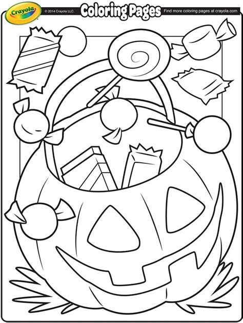 crayola coloring pages to print halloween treats coloring page crayola com