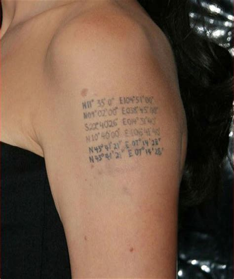 angelina jolie tattoo latitude longitude pics for gt latitude and longitude coordinates tattoo