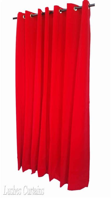 red grommet drapes red 84 inch h velvet curtain panel w grommet top eyelets