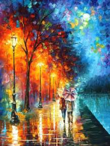 by the lake palette knife painting on canvas by