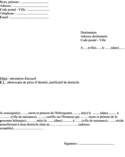 Lettre De Motivation Pour Hebergement Visa modele attestation employeur visa document