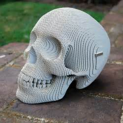 geek art gallery papercraft vince human skull