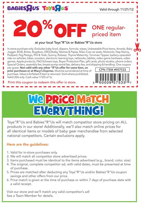 20 off babies r us printable coupon 2013 toys r us coupons car seat specs price release date
