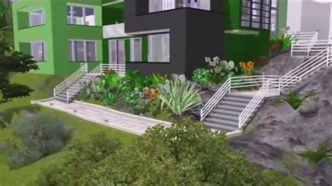 modern green house the sims 3 house building modern green doovi
