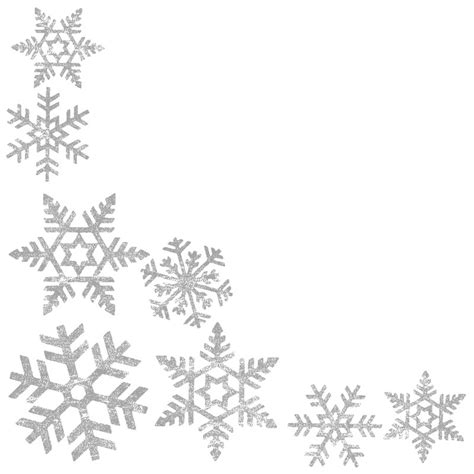 snowflake clipart page border pencil and in color