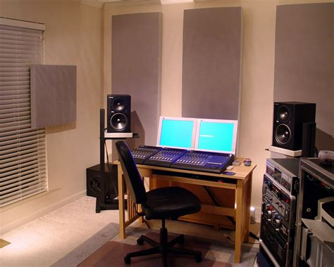 appealing acoustic design for the home studio images
