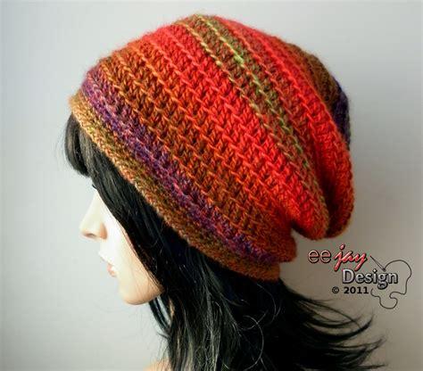 colourful crochet oversized beanie free felt