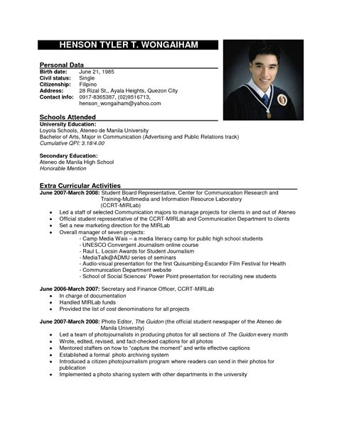 standard format of resume pdf top 10 resume formats it resume cover letter sle